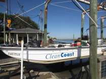 Clean Coast Skiff coming out after trip to Blackbeard Island.