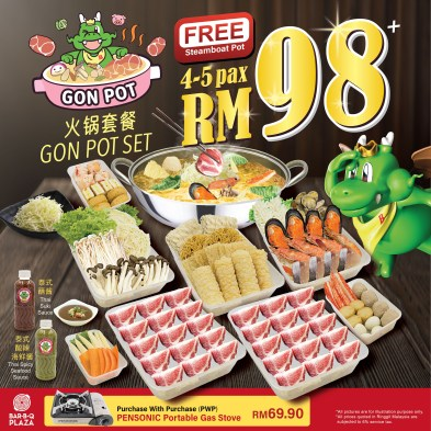 GonDelivery - Gon Pot Set with Free Steamboat Pot