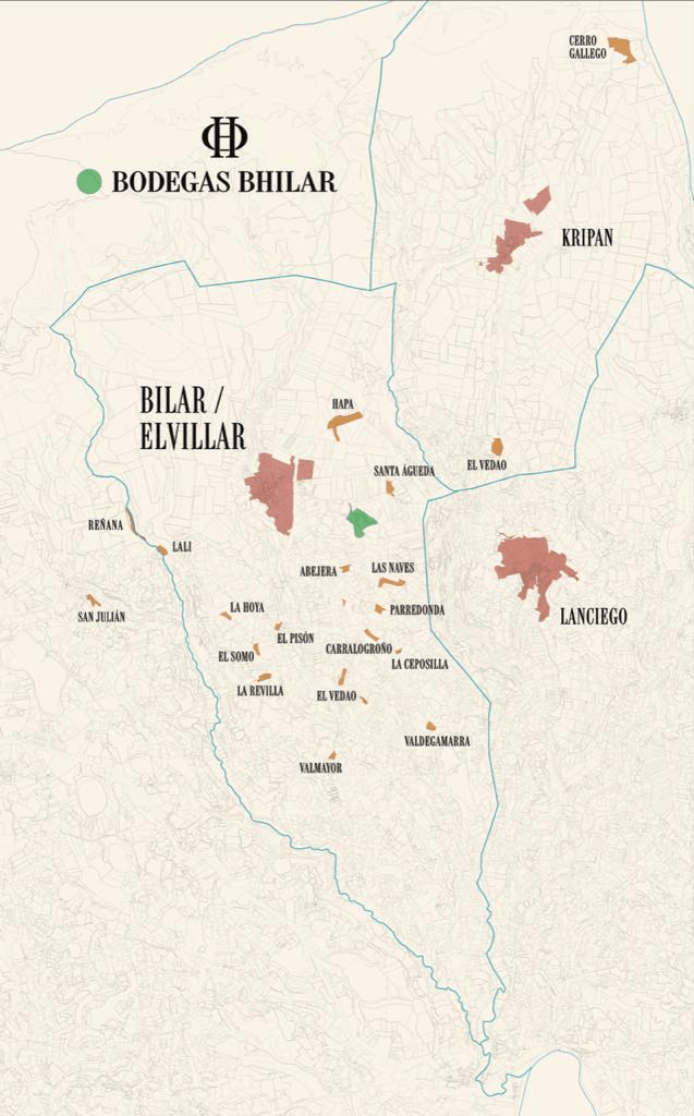 Bodegas Bhilar | Rioja Vineyard Map