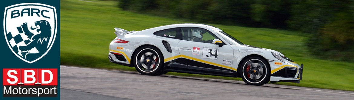 BARCE SBD Page Header - Grey Porsche at Curborough Sprint Course - August 2017