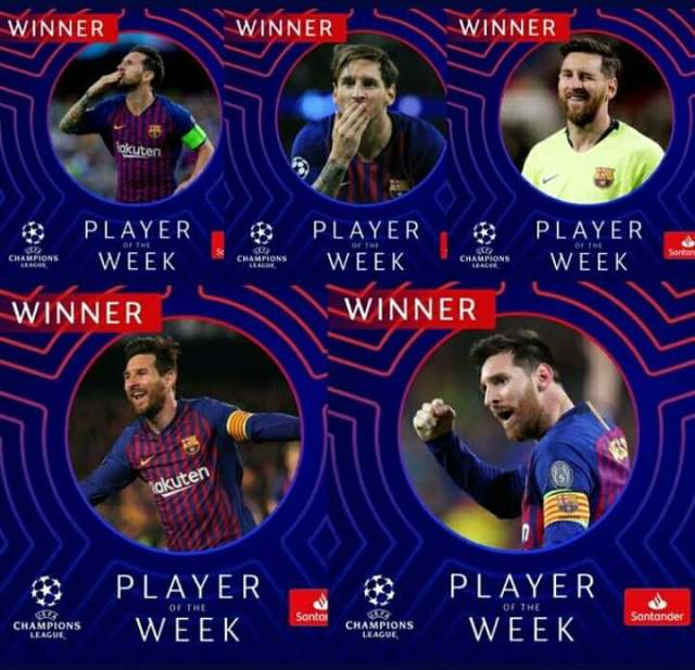 Messi the champions league stats