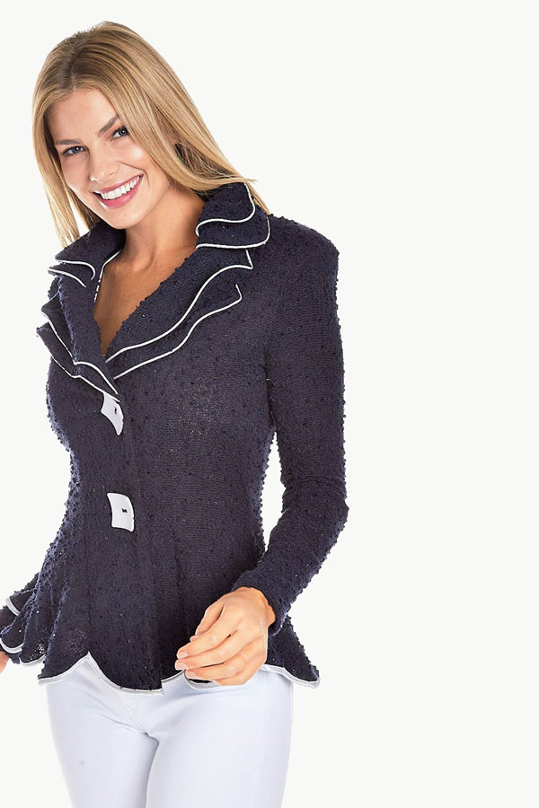 Fitted Boucle Sparkle Jacket