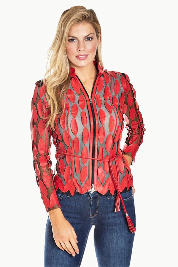 Leather Leaf Shirt Jacket