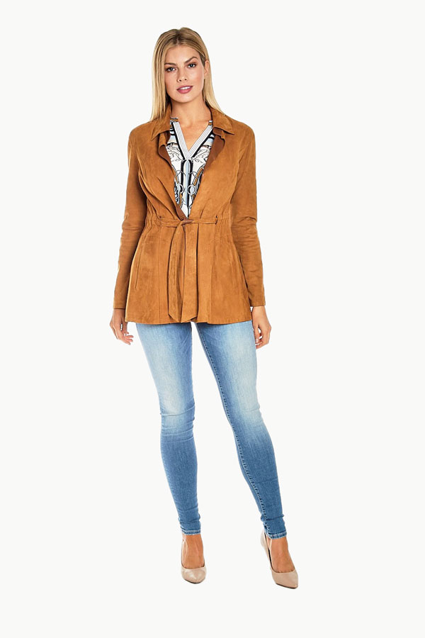 Reversible Soft Suede Leather Jacket