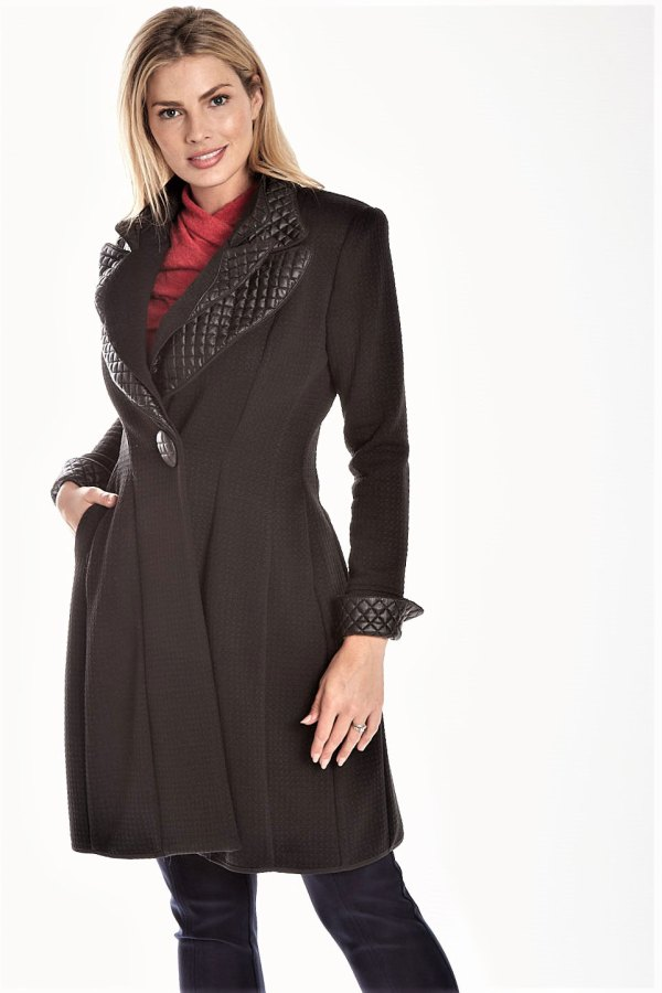 Quilted Knit Coat