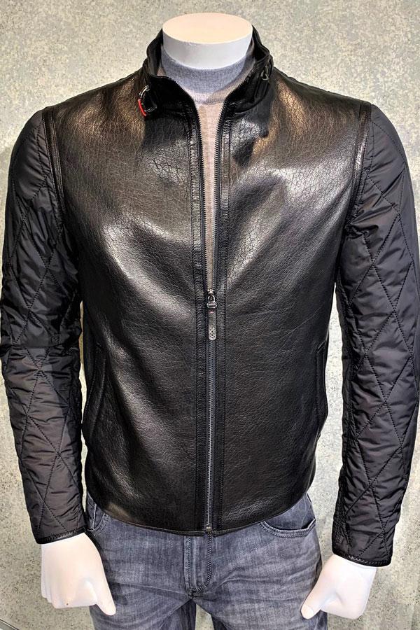 Zip Black Lambskin Leather Outerwear