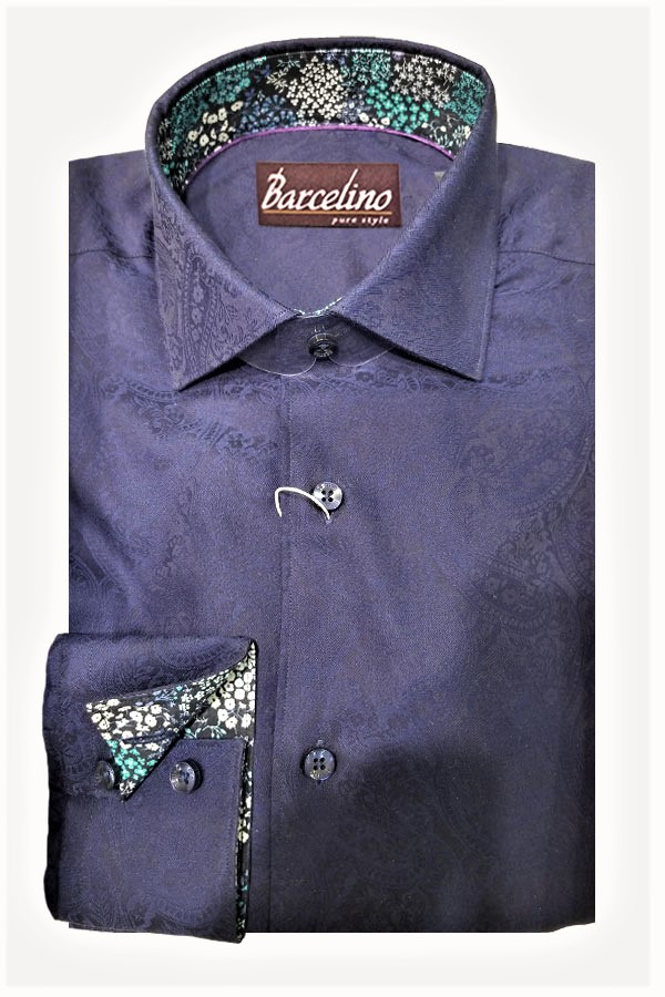 Paisley Jacquard Sport Shirt. Modern Fit.