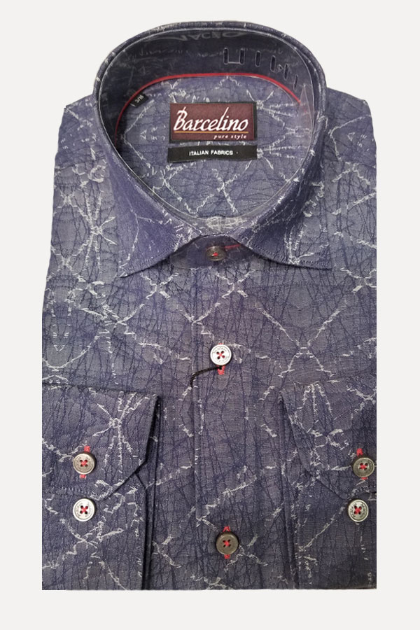 100% Cotton shirt in Modern Fit. Great Model because the fabric stays close to your body so you look trim and stylish. Designed by Maceoo.