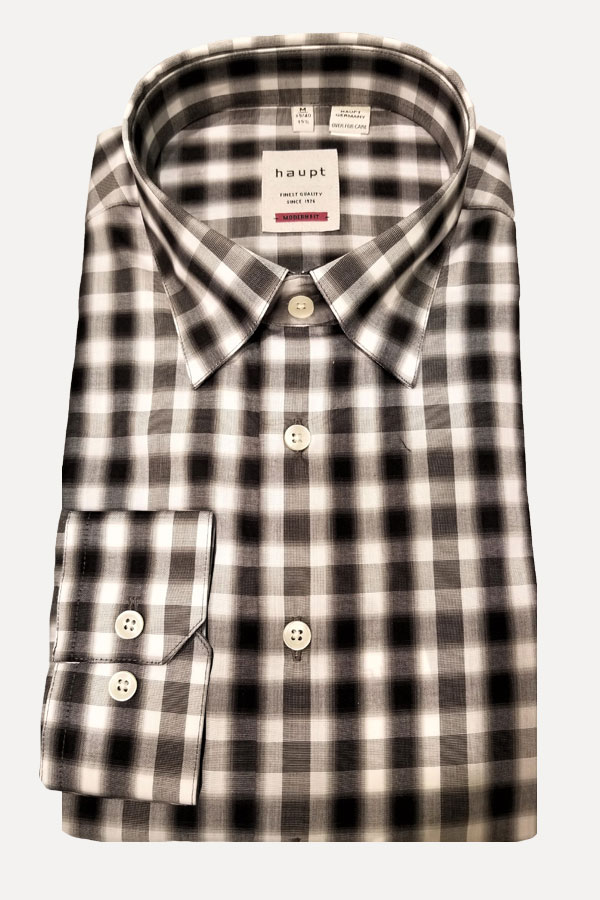 men's black and white checkered sports shirt by haupt