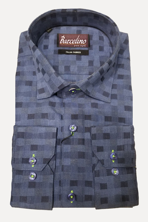 Hidden Button Down Shirt in a Modern Fit, designed by Maceoo for Barcelino.