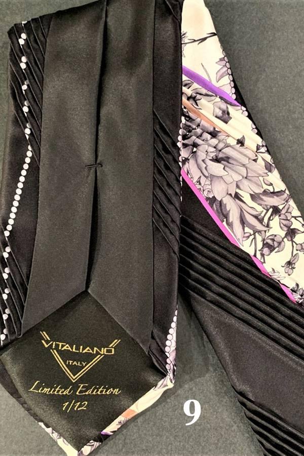 Pancaldi Limited Edition FANTASIA Plisse Silk Tie (*Order Instruction)