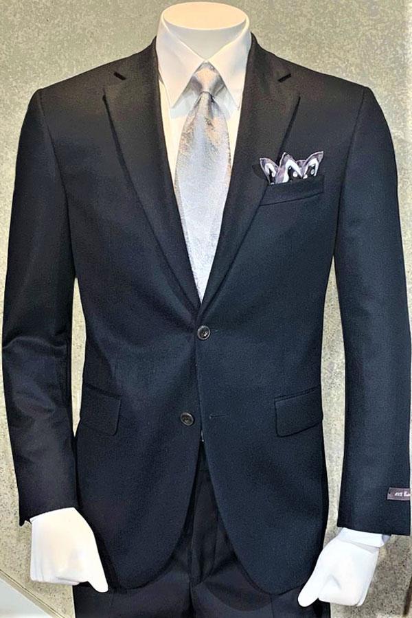 100% Cashmere Blazer in Black Solid