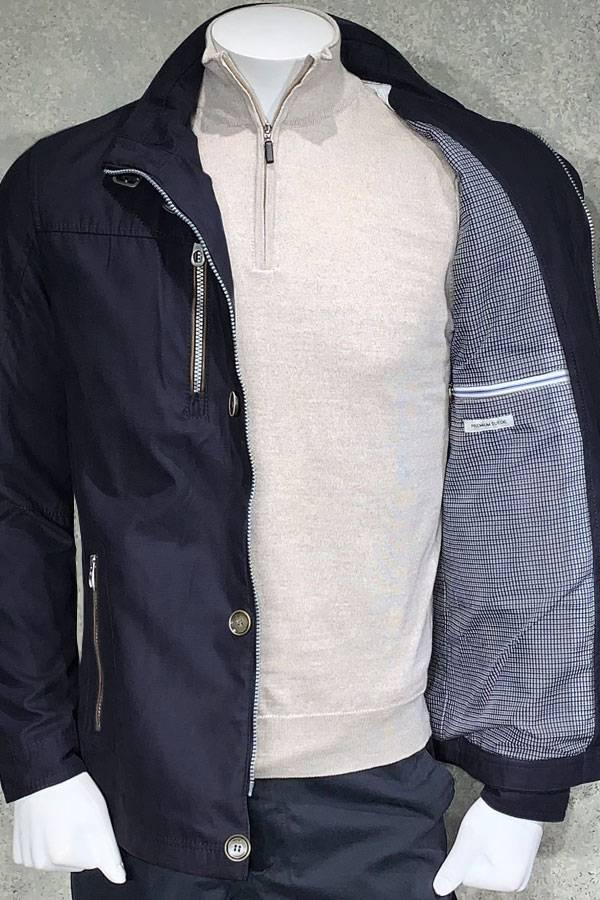 Bugatti Zip Outerwear in Micro Suede