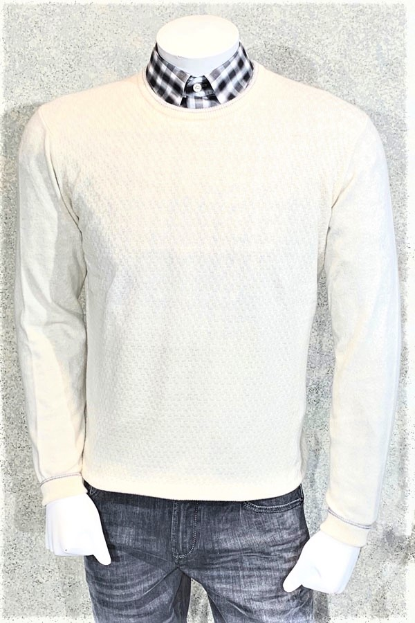 Crew Cashmere/Wool Basket Weave Sweater