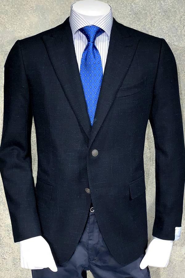Italian Soft Tweed Blazer-Cerruti Wool/Linen Fabric