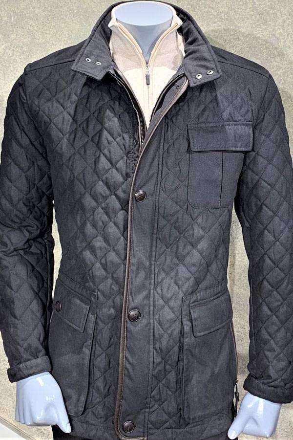 Quilted Zip Field Coat
