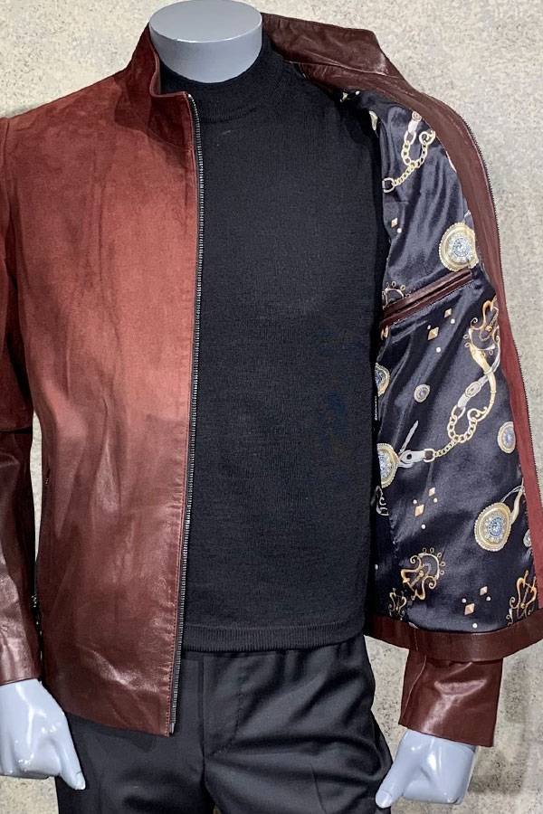 Suede to Leather Zip Blouson