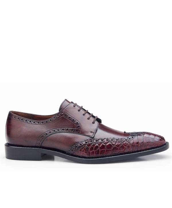Alligator Wing Tip Shoe Classic Laceup