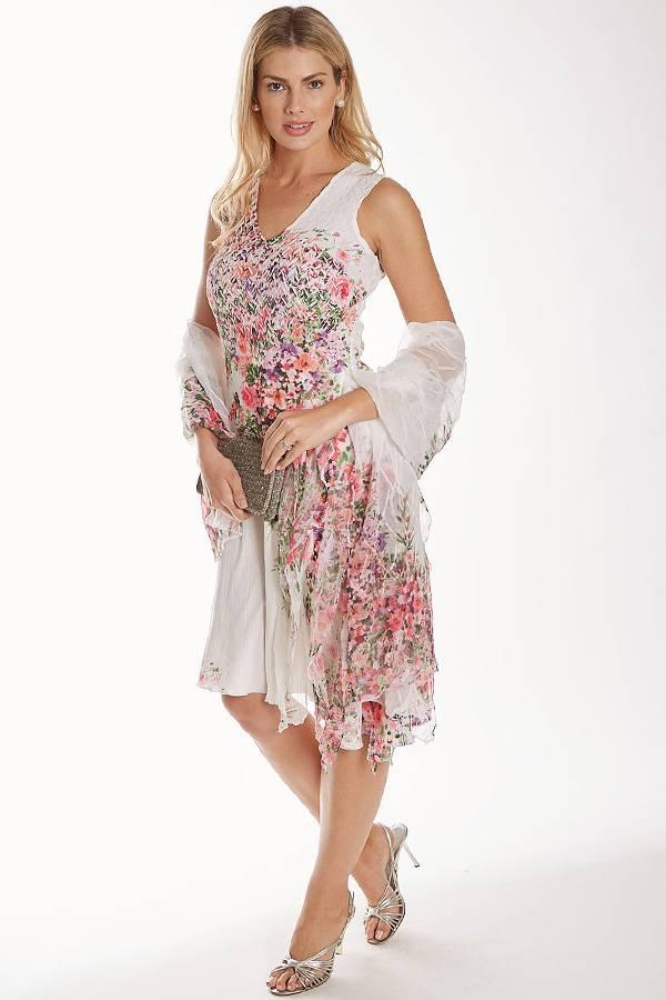 Plisse Floral Dress