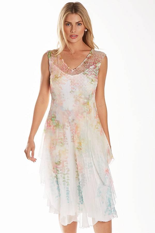 Plisse Pastel Dress