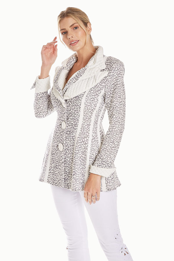 women's contrast knit jacket front