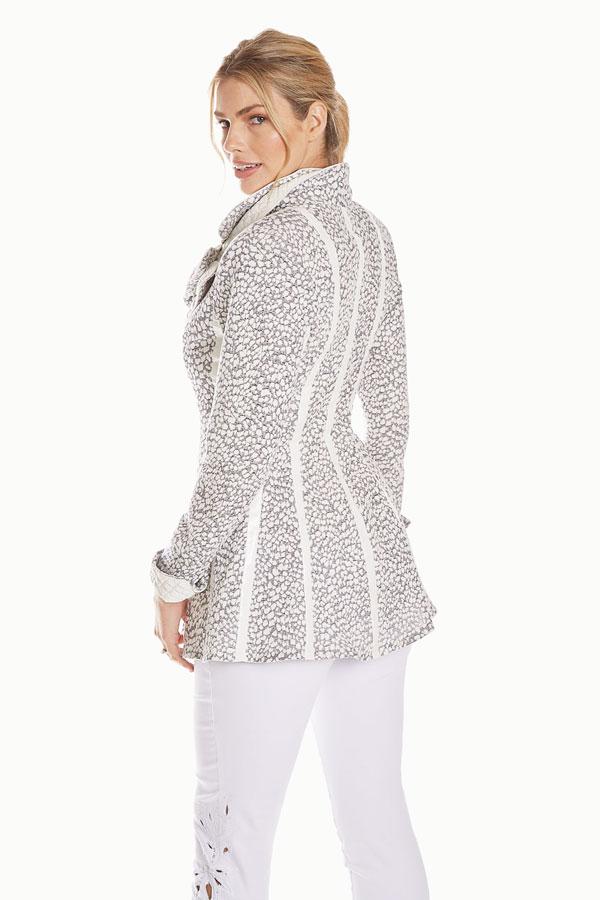 Contrast Knit Jacket
