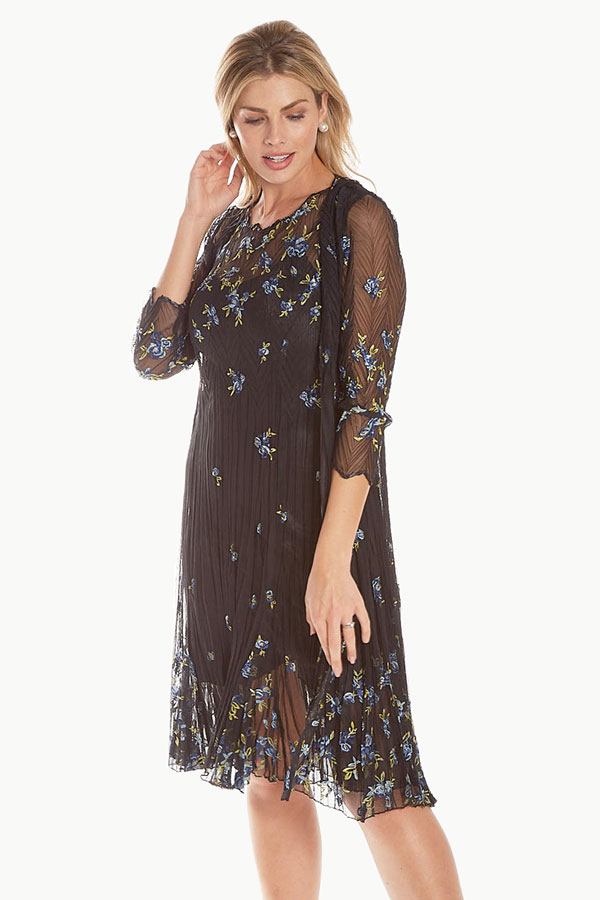 Embroidered Lace 2pc Ensemble Duster/Dress