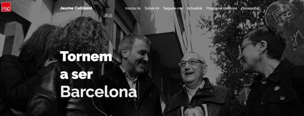 Pantallazo página web candidato Jaume Collboni