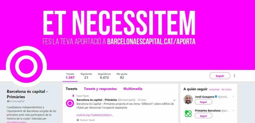 Cuenta de Twitter de BCN és capital