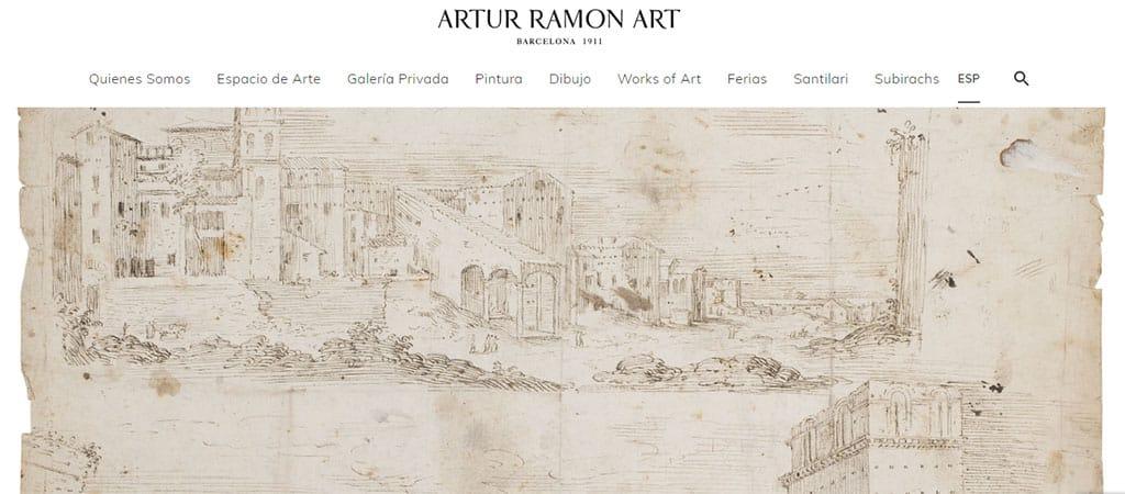 Captura de pantalla de la web de Artur Ramon Art