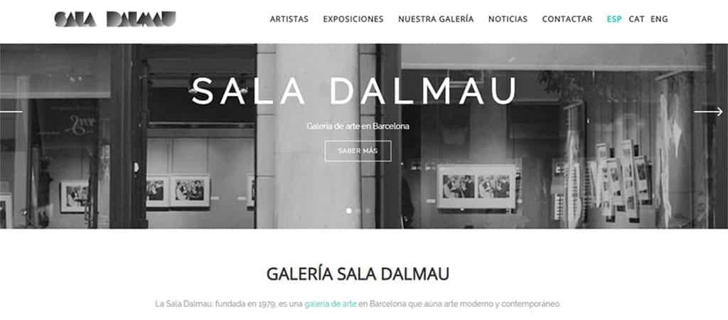 Captura de pantalla de la web de la Sala Dalmau