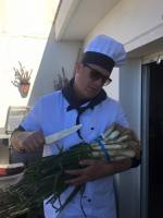 Calçots with Barcelona barbecue catering