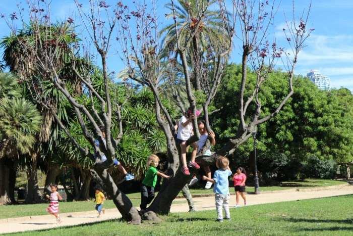 Parque-de-la-ciudadela-con niños
