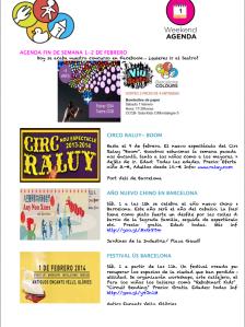Agenda actividades niños Barcelona febrero