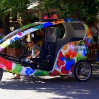 A trendy spanish rickshaw