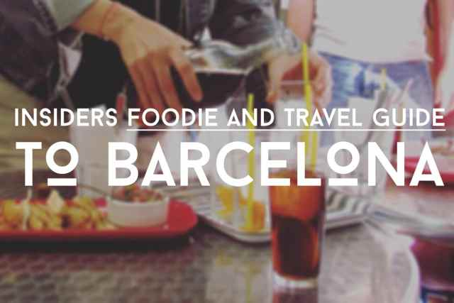 Barcelona eat local free food & drinks guide pouring drinks