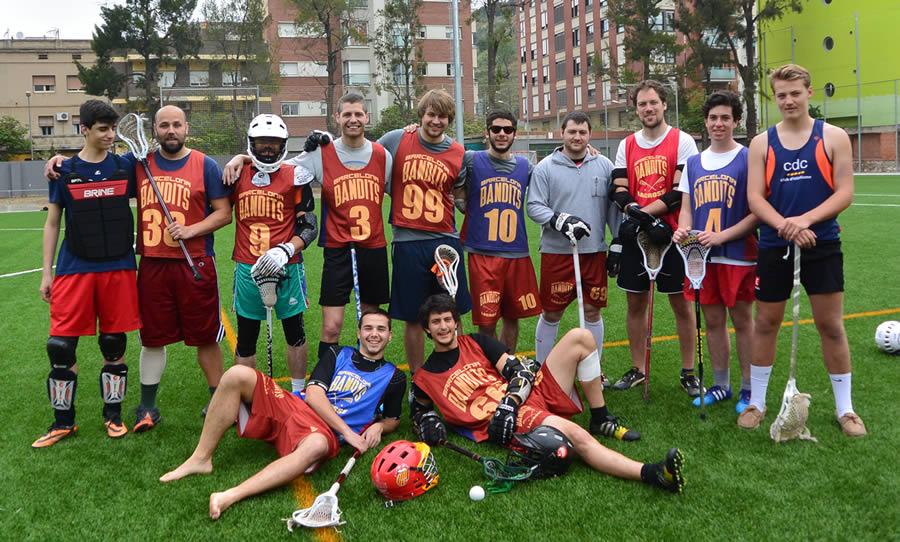 Barcelona Lacrosse's team Blue & team Red