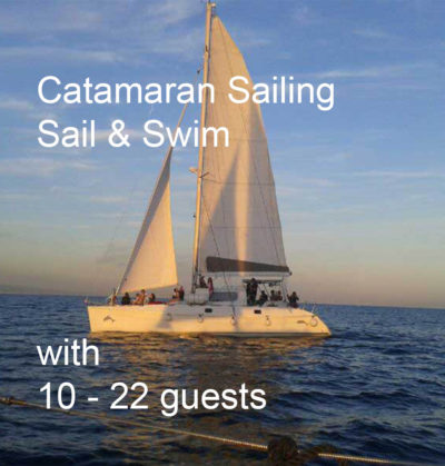 Sail and Swim in front of the barcelona coats