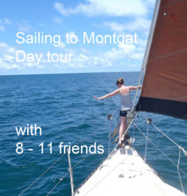 Sailing to Montgat with an 42 ft boat