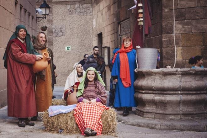 pesebre viviente barcelona tradiciones catalanas
