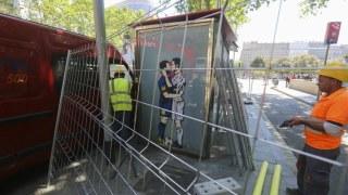 graffiti de Messi y Cristiano