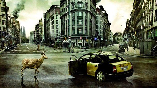 Barcelona sin personas