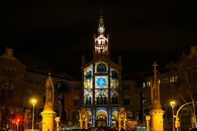 fotos nocturnas de Barcelona