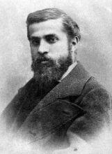 Man met baard, zwart-wit foto