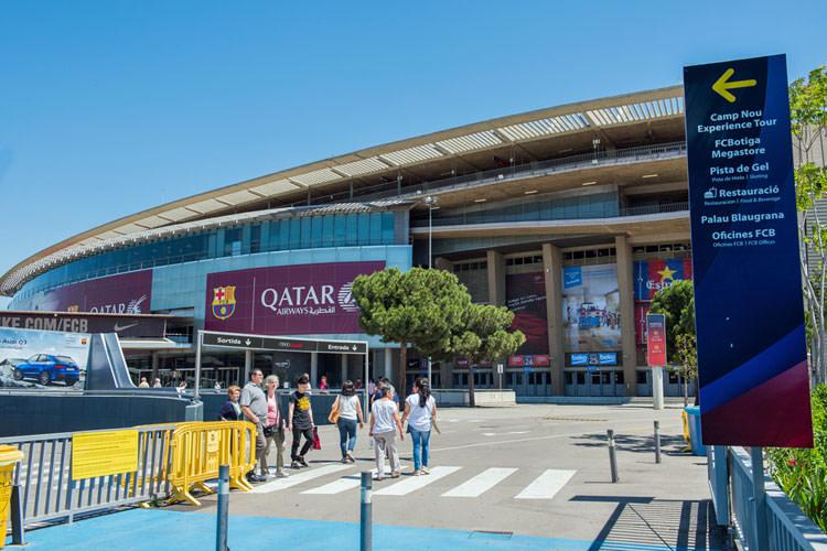 Buitenkant voetbalstadion Camp Nou