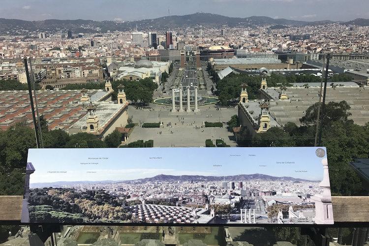 Dakterras MNAC uitzicht Barcelona