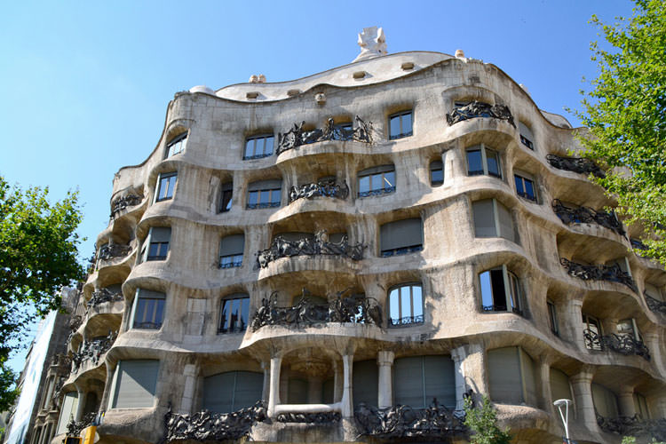 Buitenkant La Pedrera Gaudí