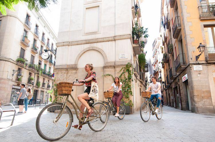 Fietsen door Barcelona