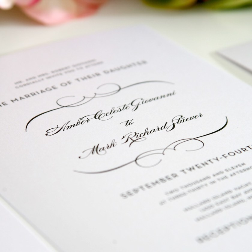 Wedding Invitation What To Write On A Traditional Invite