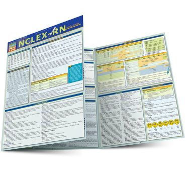 Quick Study QuickStudy NCLEX-RN Laminated Study Guide BarCharts Publishing Medical Reference Guide Main Image